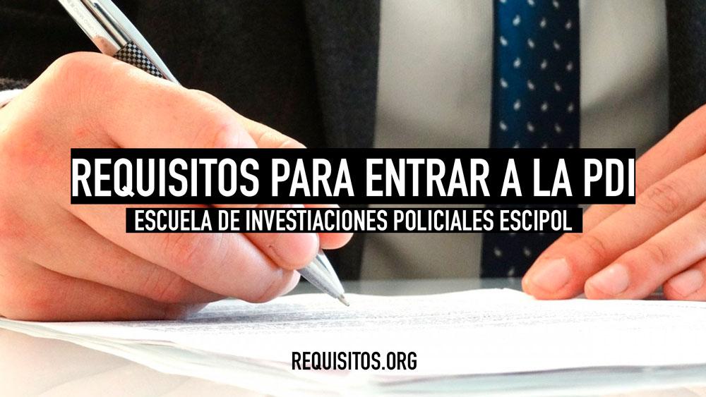 Lista de requisitos para entrar a la PDI Chile - Título
