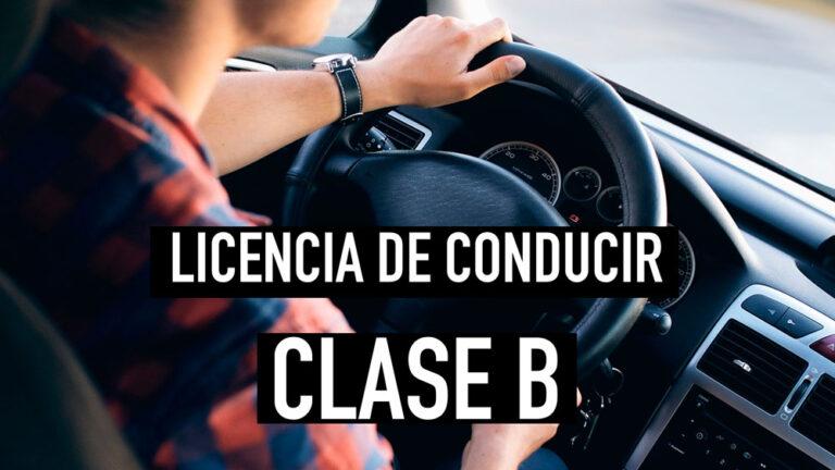 Requisitos para la licencia de conducir clase b